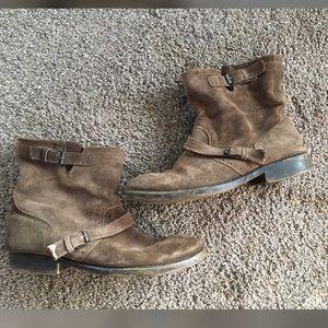 ZIGI GIRL Genuine Suede Leather Booties